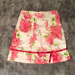 Claudia Richard White, Pink & Green Skirt
